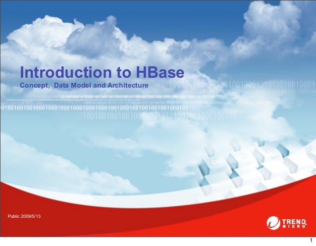 Introduction to HBase     Concept, Data Model and Architecture                                          Public 2009/5/13...