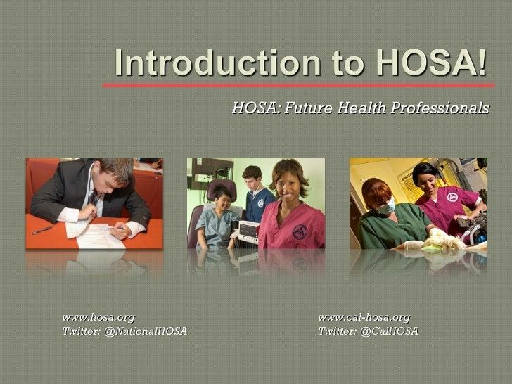 Introduction to HOSA ca ver 2011-12