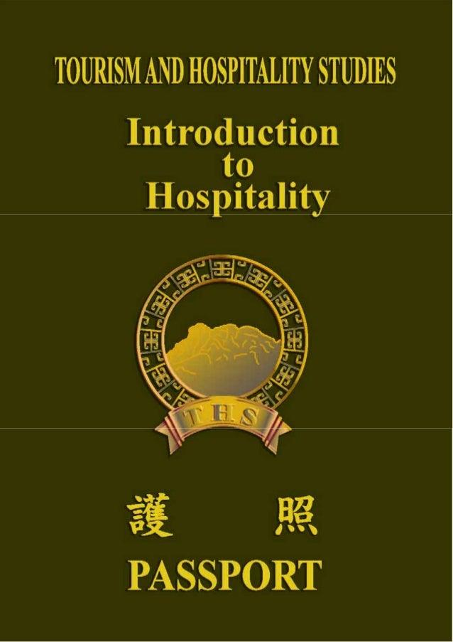 Manual on Module II Introduction to Hospitality