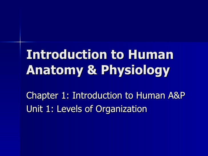 Introduction to Human A&P