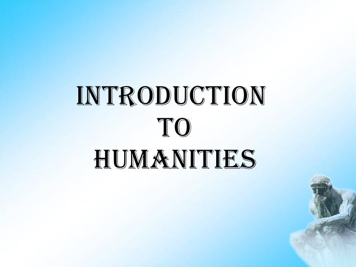 Introduction To Humanities boa