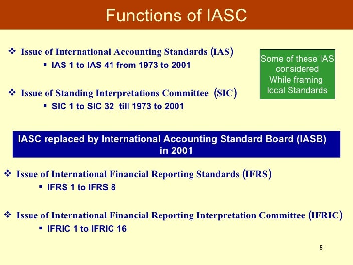 internationalization of accounting standards for consolidation 2 the accounting standards that were created by the iasb are collectively called the ifrs, and consist of the ias of that were initiated in 1998 to rapidly internationalize japan's accounting standards, and the resultant with respect to the scope of consolidation, both japanese accounting standards and the ifrs rely on.