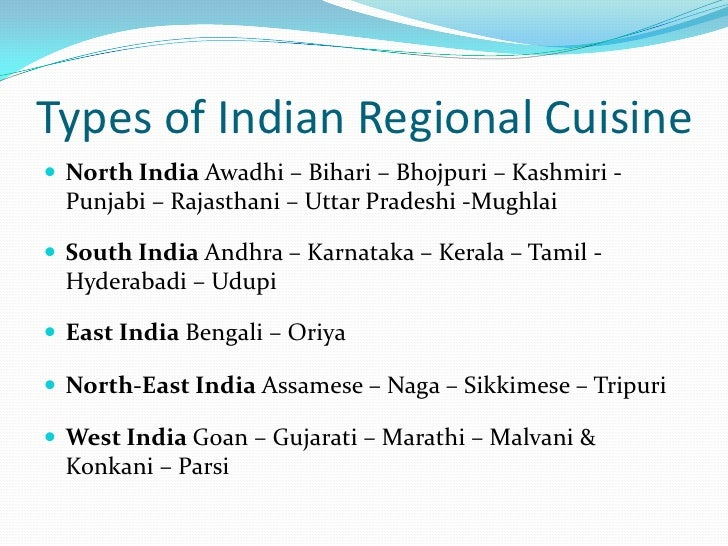 Introduction to indian cuisine Cuisines of india