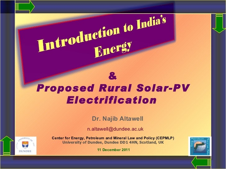 & Proposed Rural Solar-PV Electrification     Dr. Najib Altawell   [email_address] Center for Energy, Petroleum and Minera...