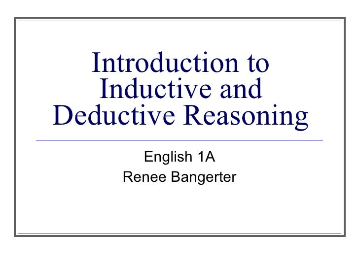 inductive essay example In the sun-set example the essays related to inductive reasoning francis bacon first proposed the method of inductive reasoning the inductive method was.