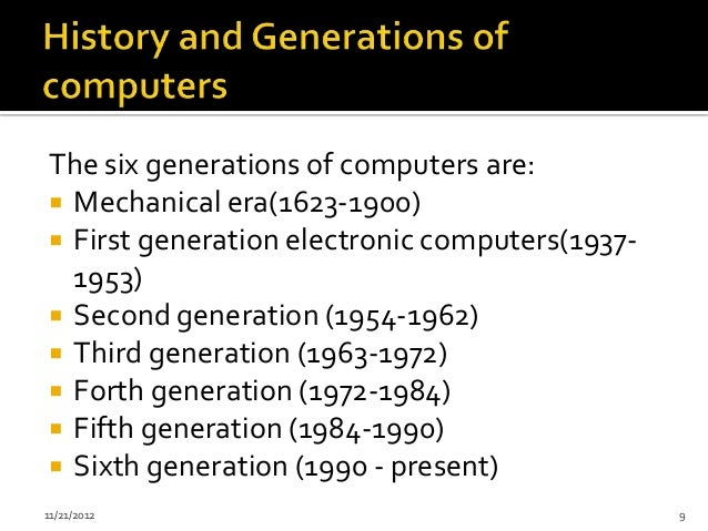 Sixth Generation of Computers  Outlet Computers