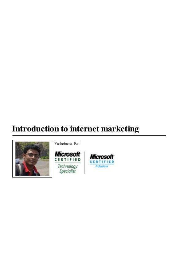 Introduction to internetmarketing