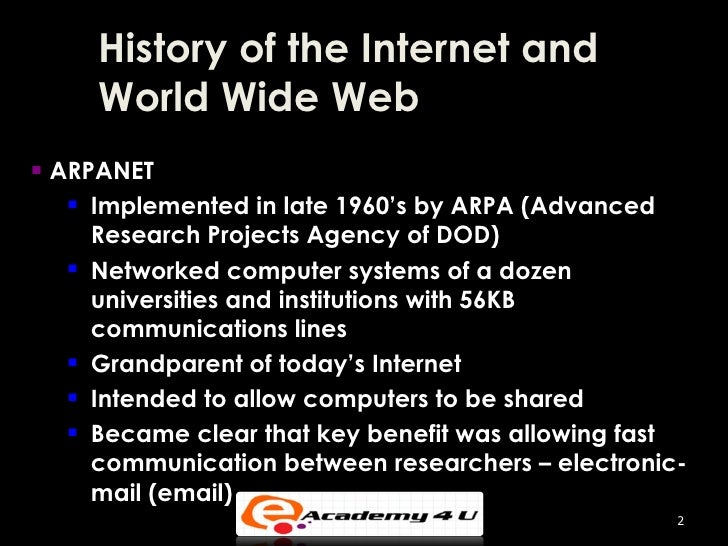 an introduction to the history of internet This course will open up the internet and show you how it was created, who  if  you're looking for an interesting class with an introduction to the technical.