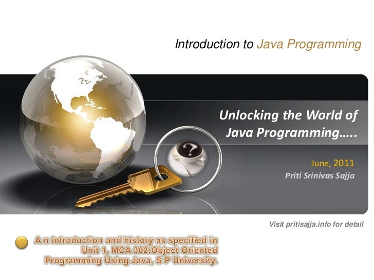 Introduction to java by priti sajja