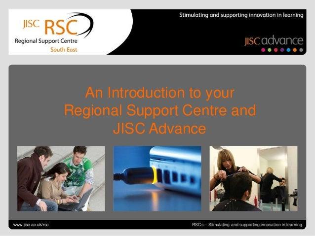 Introduction to Jisc RSC SE June 2013