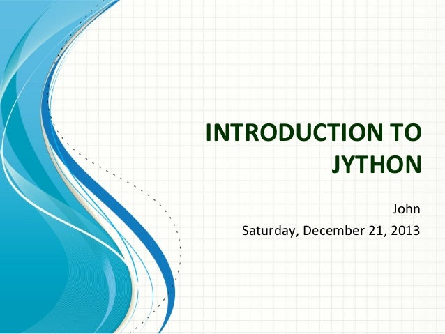 Introduction to jython