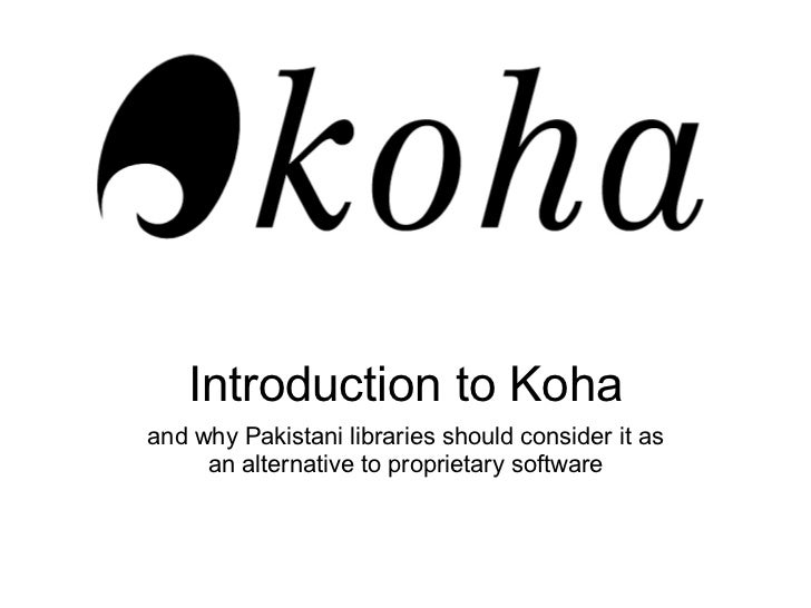 Introduction to koha