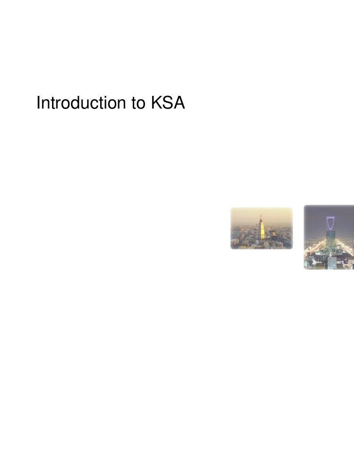 Introduction to KSA