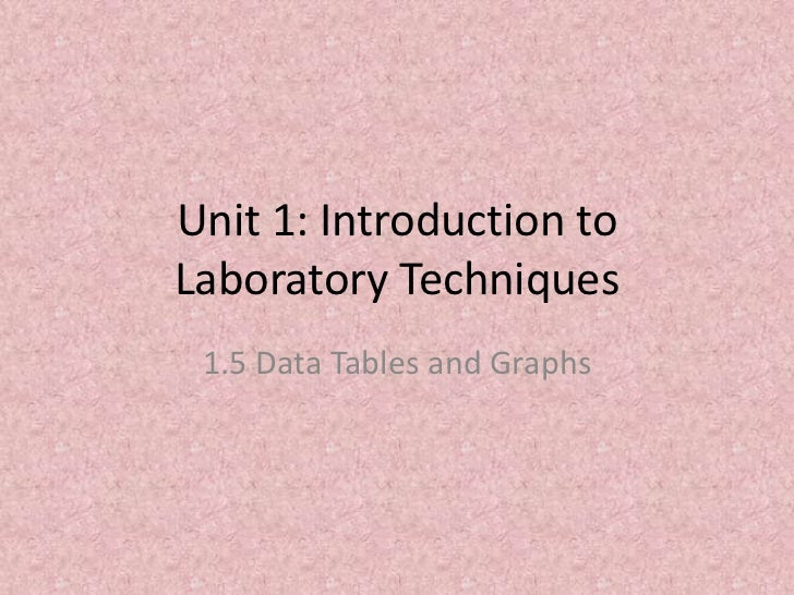 Introduction to laboratory techniques