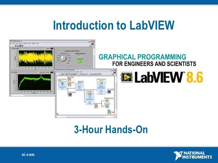 Introduction to lab view 8.6 in 3 hours