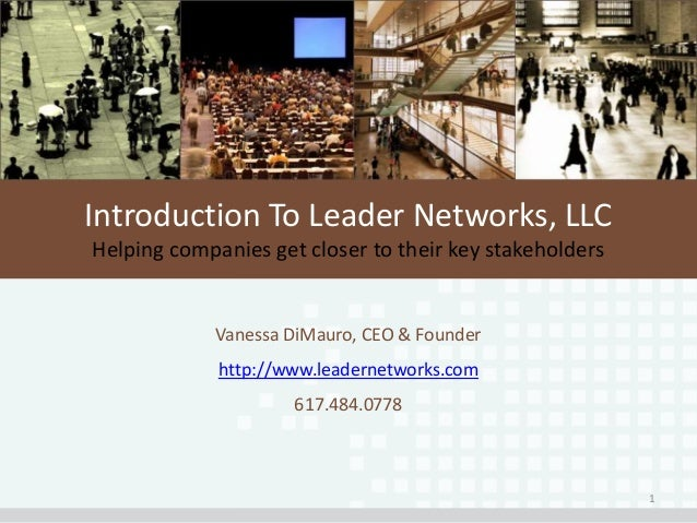 Introduction to Leader Networks