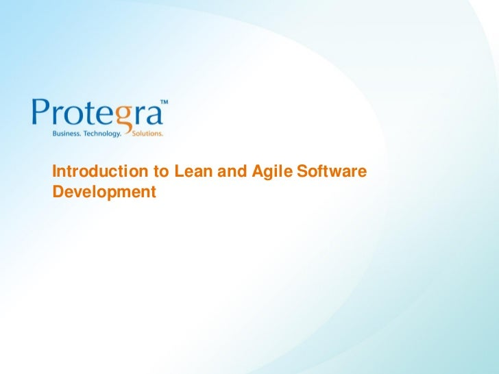 Introduction to lean and agile