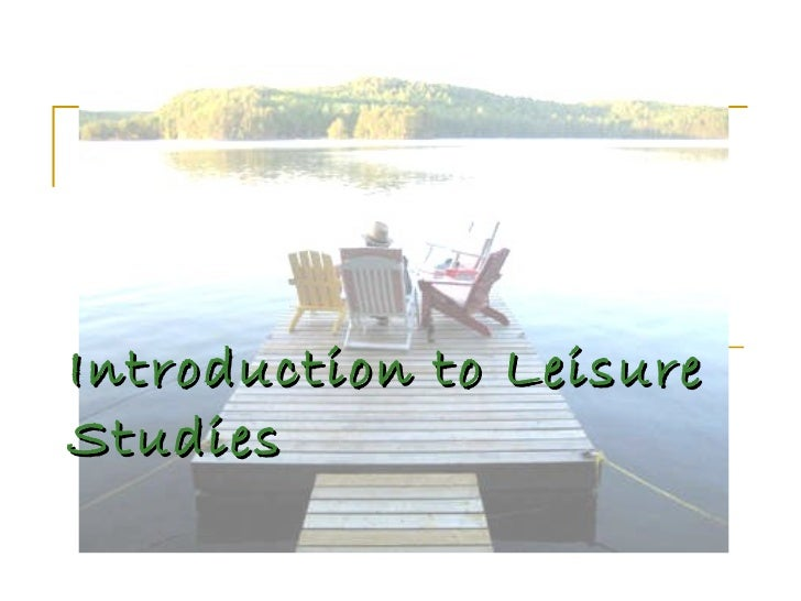 Introduction to leisure1