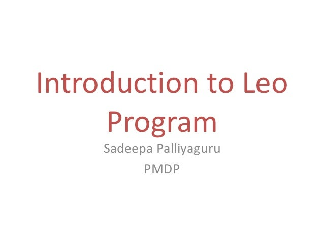 Introduction to leo program