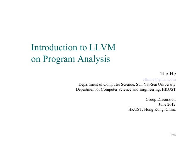 Introduction to llvm