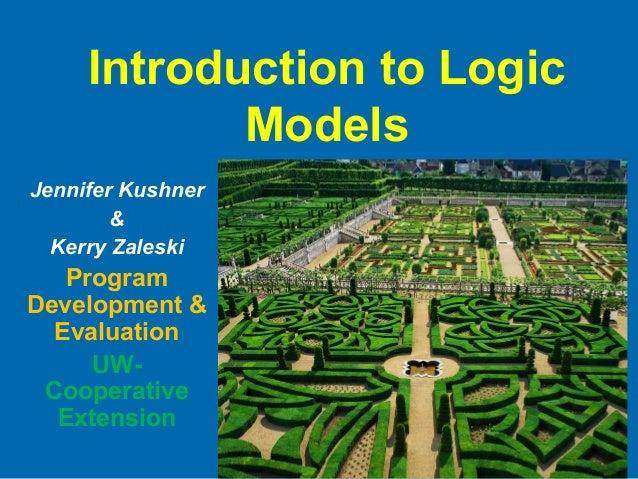 Introduction to Logic Models Jennifer Kushner & Kerry Zaleski Program Development & Evaluation UW- Cooperative Extension