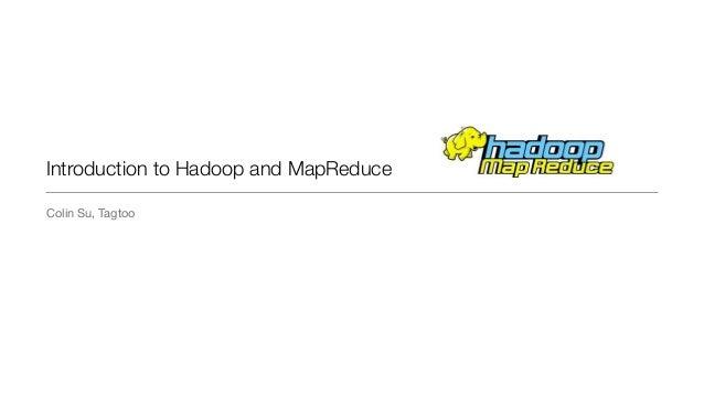 Introduction to MapReduce & hadoop