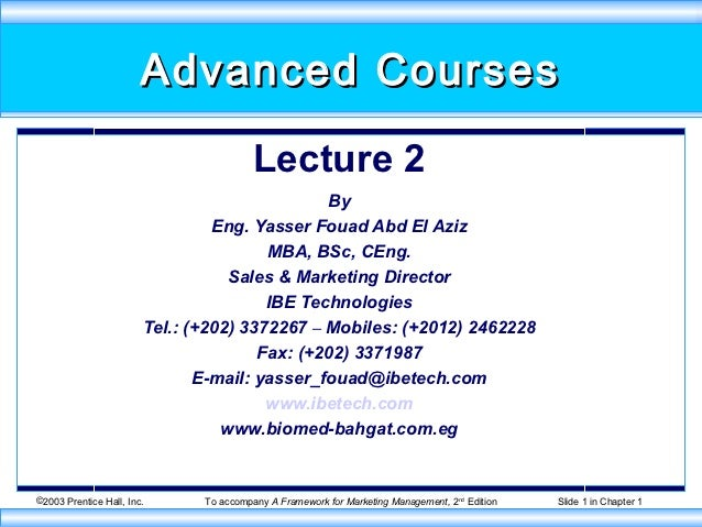 Advanced Courses                                         Lecture 2                                               By       ...