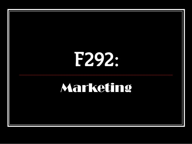 F292:Marketing
