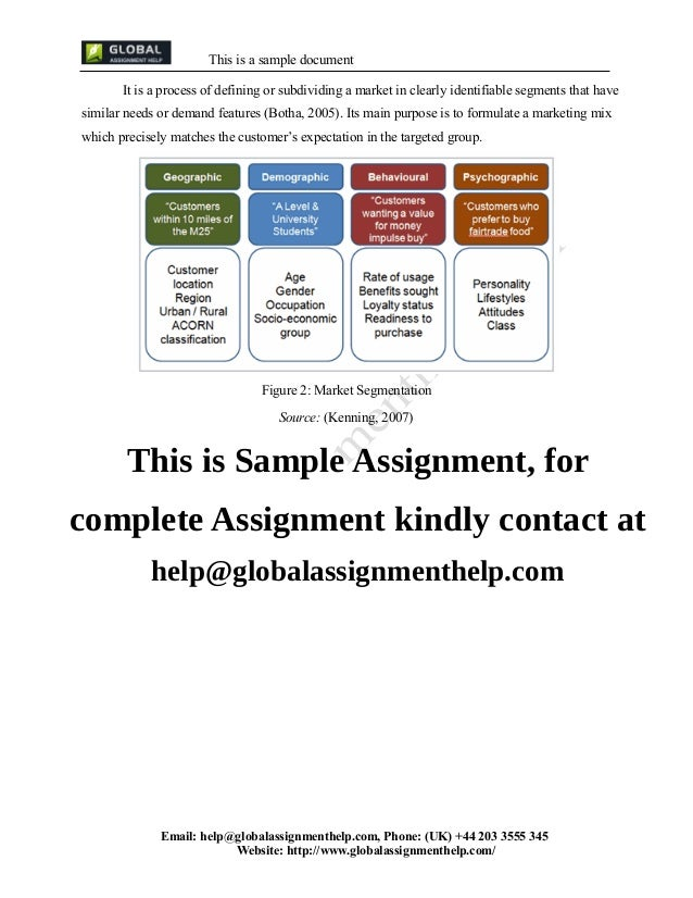 assignment 2 marketing international Assignment 2: executing mkt 500 assignment 2: part b: your marketing plan at 12:57 posted by godlivian bahati assignment 2: part b: your marketing plan.