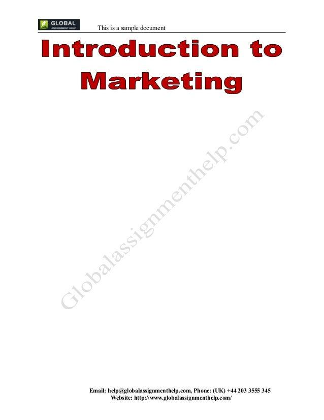Do my marketing assignment
