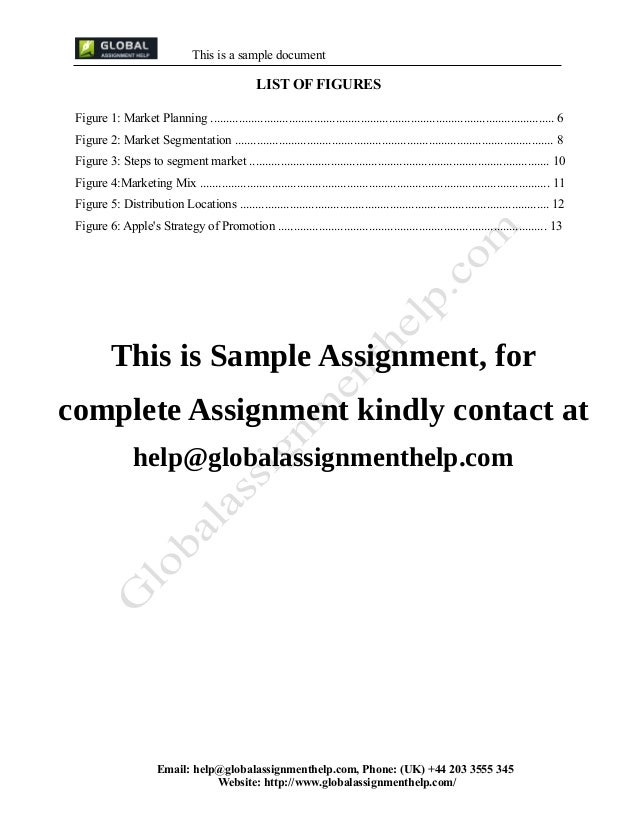 Assignment document