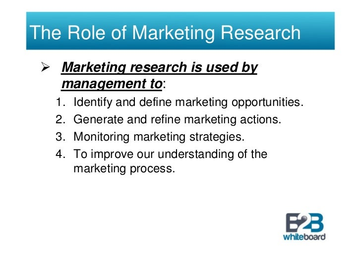 role of marketing research in marketing Journal of management and marketing research role of relationship marketing, page 3 (3) if a particular market needs more relational marketing, then that market can be.