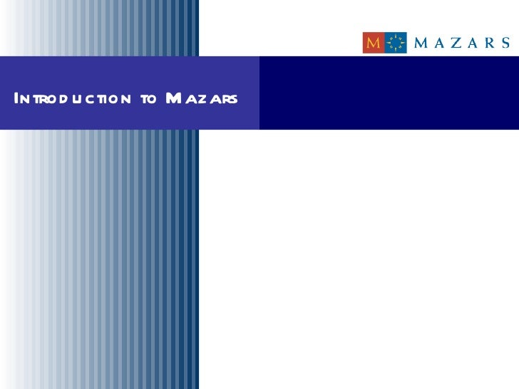 Introduction to Mazars in the Netherlands for Dr Oetker Introduction to Mazars