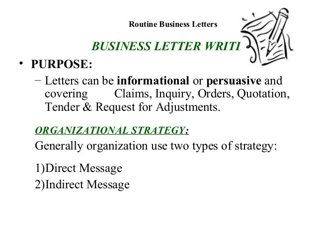 Letter writing for business communication