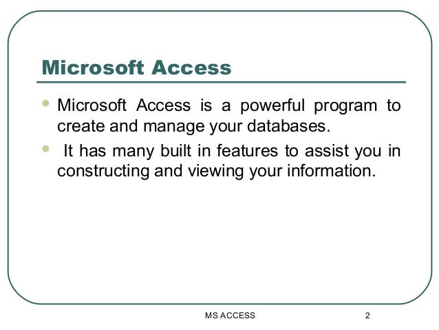 introduction to ms access Microsoft access 2016 - dit - dit dublin institute of.