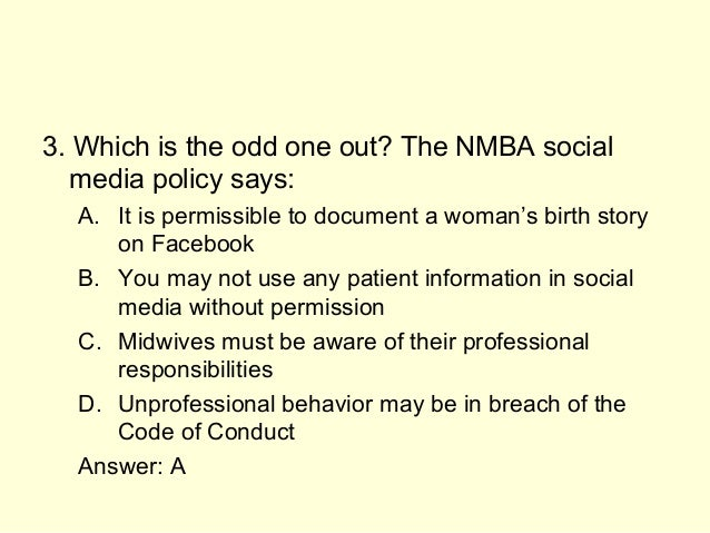 Nmba code of professional conduct
