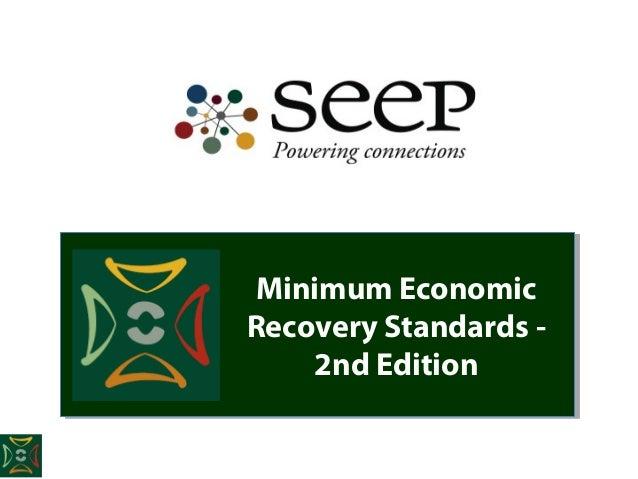 Minimum EconomicRecovery Standards -    2nd Edition