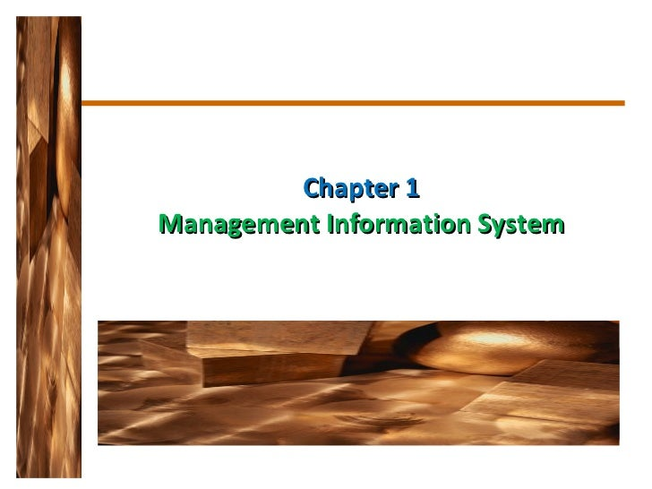 Chapter 1 Management Information System