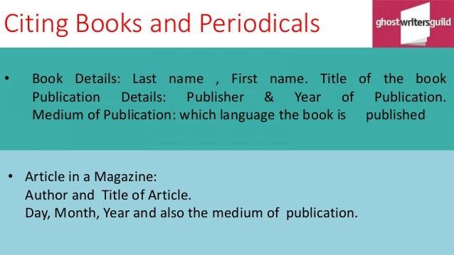Mla citing books