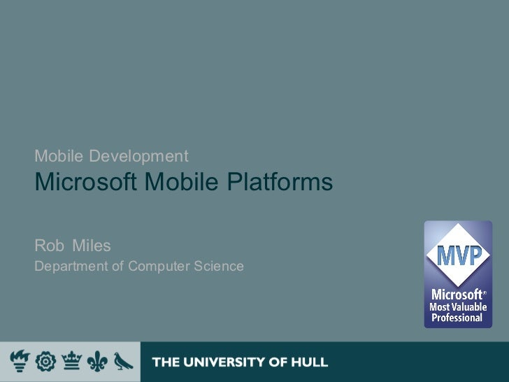 Introduction to mobile platforms