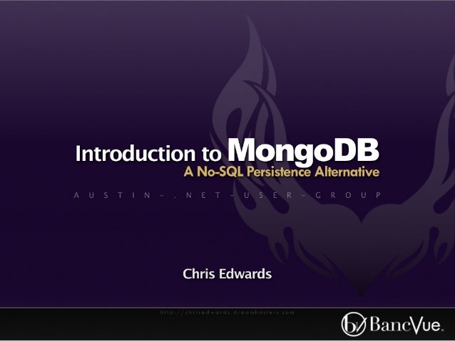 Introduction to mongo db