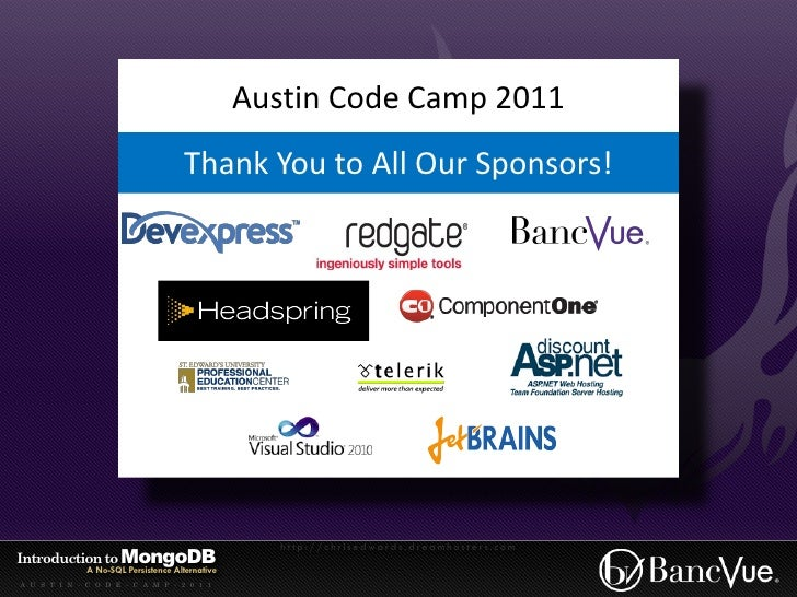 Introduction to MongoDB - Austin Code Camp 2011