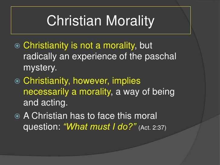 A second question on morality?