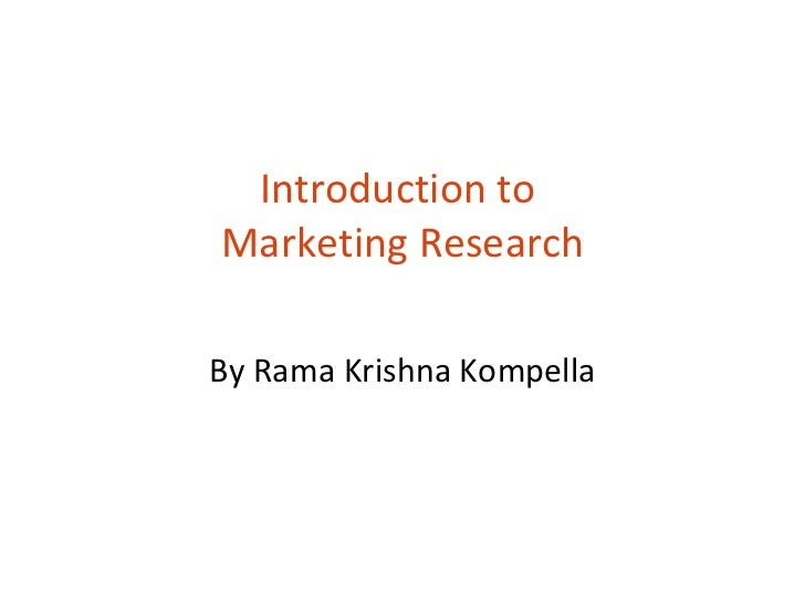 Introduction to  Marketing Research By Rama Krishna Kompella