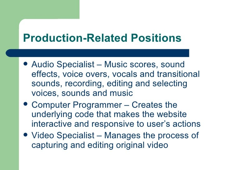 What is a Multimedia Specialist?