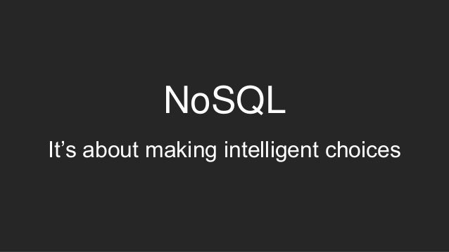 Introduction to no sql database