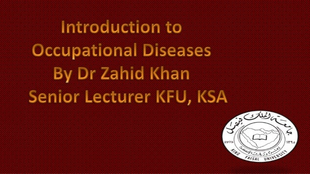 Introduction to occupational diseases