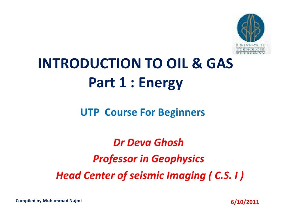 Introduction to oil & gas [read only]