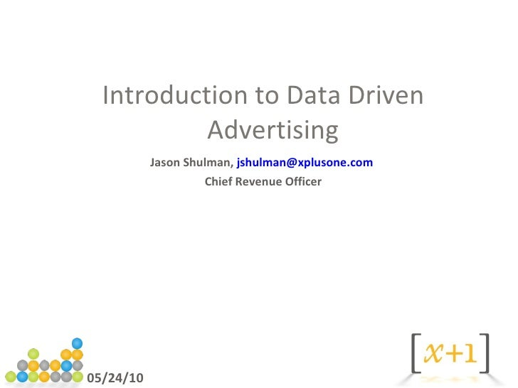 Introduction to online advertisting