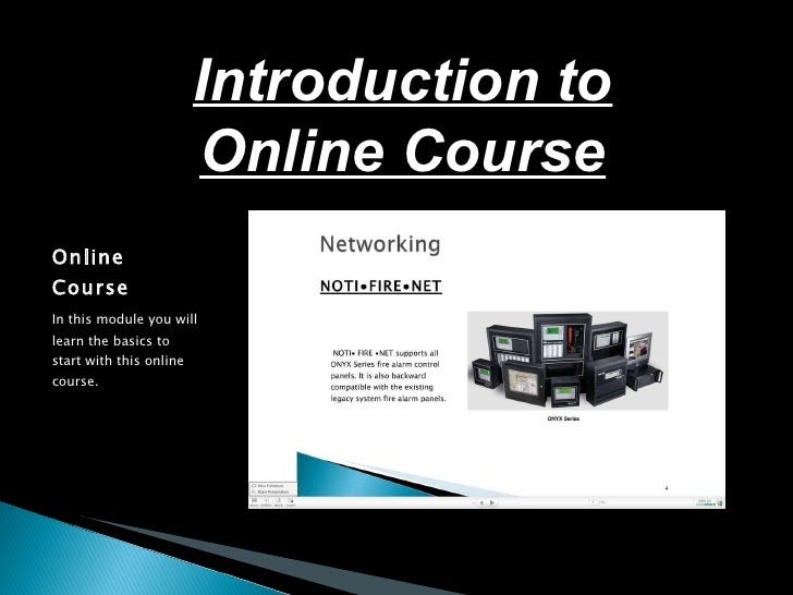 Introduction to online course